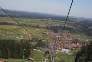 view from Alpspitzbahn 8 by ingeline-art
