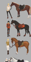 Wip characters by Roiuky