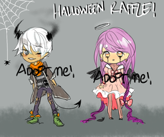 halloween free adopt raffle [CLOSED] by chamoe