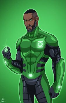 Green Lantern John Stewart (Earth-27) commission by phil-cho
