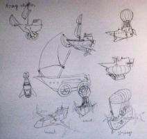 airship concepts by aretenike