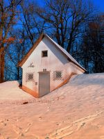 Small cottage in winter wonderland by patrickjobst