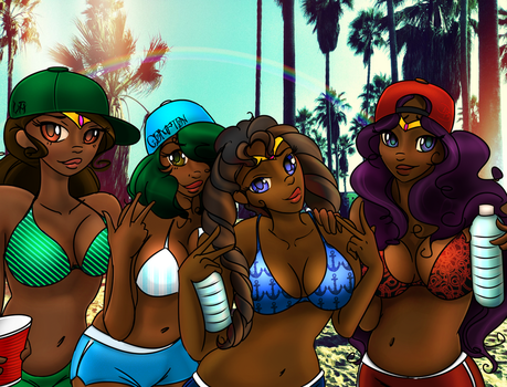 Chocolate Sailor Moon Spring Breakers by DjDontTouchTheTrim