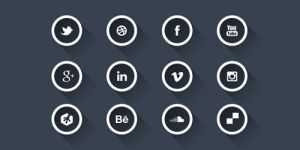 Free Social Media Icons Long Shadow by sfproduction
