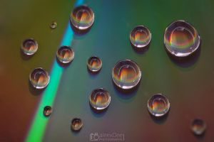 Colorful Water Drops by aleexdee