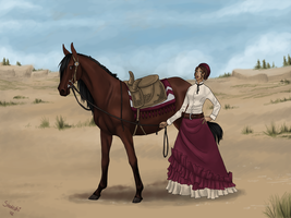 Wild West Girls in Color by Shotechi