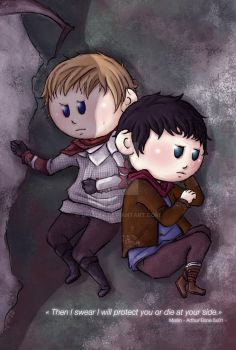 Die at your side - Merlin and Arthur by ukialek