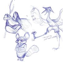 Kung Fu Sketches by rollingrabbit