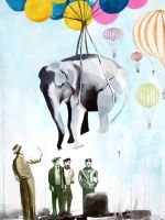 The Elephant Who Dreamt of Ballooning by defectivebarbie