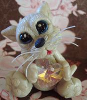 polymer clay kitty skats by crazylittlecritters