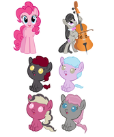 Pinkie Pie x Octavia Adopts! OPEN by SnowRoseAdopts