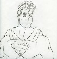 superman drawing manga style by KINGOFTHEGAMEZ