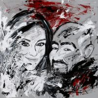 Abstract Couple by dabaryan