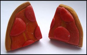 glitzy pizza earrings by citruscouture