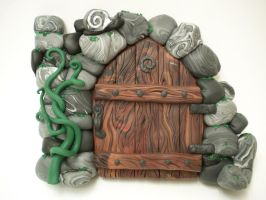 Ruined Spiral Castle FairyDoor by FlyingFrogCreations