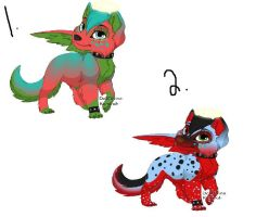 Blaze and number 3 by lubca