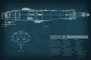EVE Online Phoenix Schematic by Titch-IX