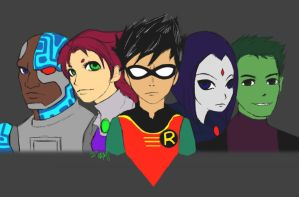 teen titans, GO by elfinpirate
