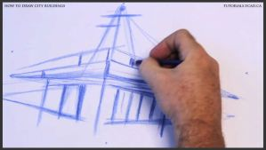 Learn how to draw city buildings 007 by drawingcourse