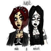 Maad And Masha Witch Sisters by MorskieNovitch