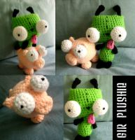 Gir and Piggy Plushies by leDISENCHANTED