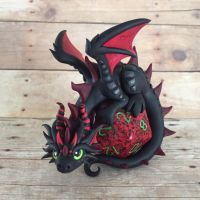Oversized Dice Dragon by DragonsAndBeasties