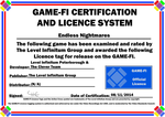 Endless Nightmares Game-Fi Certificate by LevelInfinitum