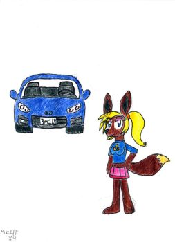 Emily and Her Car by MC4E84