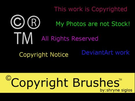 Copyright Brushes by laceratedwrists