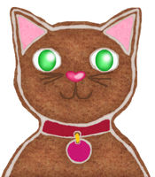 Gingerbread Cat for DorkyCats by LadyIlona1984
