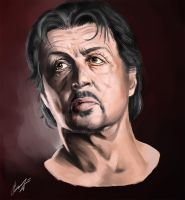 Sylvester Stallone by chelnokoff