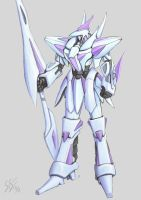 white mecha by Serio555
