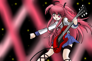 yui with guitar by rianneZ
