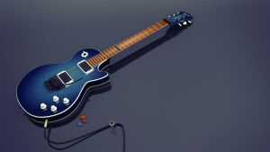 Les Paul Blue HD Redux by cheyrek