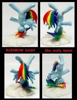 RAINBOW DASH Cloud Break Dance HEADSPIN custom by MadPonyScientist