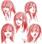 Expressions: Kairi by DreamCaptive