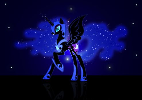 Nightmare moon wallpaper by demondave999