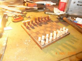 chessboard in progress... by BlueBird58