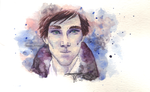 Watercolor Cumberbatch by DasMoo