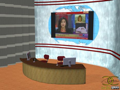 TV-Studio/Newsroom as OBJ by ancestorsrelic