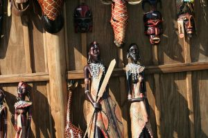 african masks and figures by ingeline-art