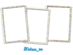 three white frames png by Melissa-tm