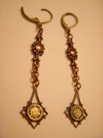 Steampunk Dangle Earrings by TLGClothing