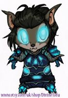 WoW Chibi 2 : Worgen Death Knight by DivineTofu