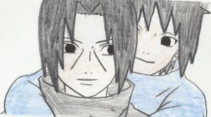 Itachi and Sasuke by kellyyllek2