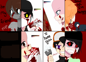 Creepypasta Oc(s) COLLAB by Shadamybelong