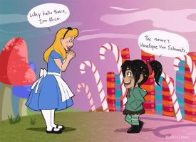 Alice Meets Venellope by SpaceJunkE