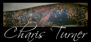 Lace Sleeve Tattoo by Metacharis