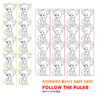 Animated kitteh bases 2 and 3 frames by RubySpades