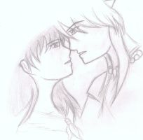 Inuyasha and Kagome by AnimeCouples1992